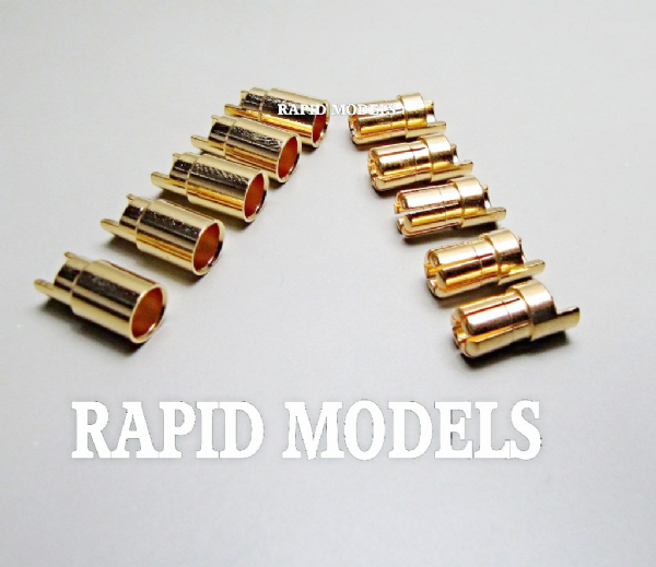 6mm Sprung Gold Connectors ( 5 pair / 10 pc )